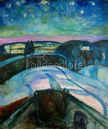 Edvard Munch: Sternennacht. 1923/1924.