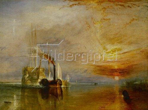 Joseph Mallord William Turner: Die Temeraire an ihrem letzten Ankerplatz. 1838-39