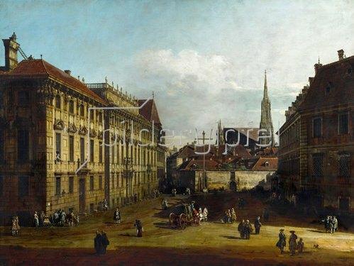 Bernardo (Canaletto) Bellotto: Das Palais Lobkowitz und der Lobkowitz-Platz in Wien. 1758/1761.