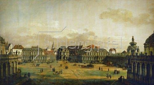 Bernardo (Canaletto) Bellotto: Der Zwingerhof in Dresden. 1749/1753