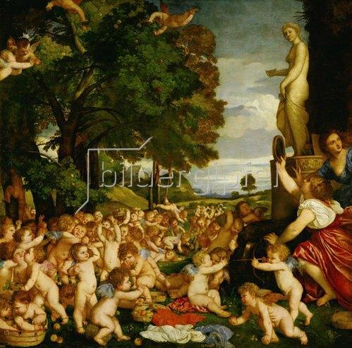 Tizian (Tiziano Vecellio): Das Venusfest. 1518-19
