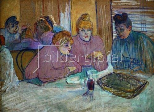 Henri de Toulouse-Lautrec: Prostituierte beim Abendessen. 1893/94.