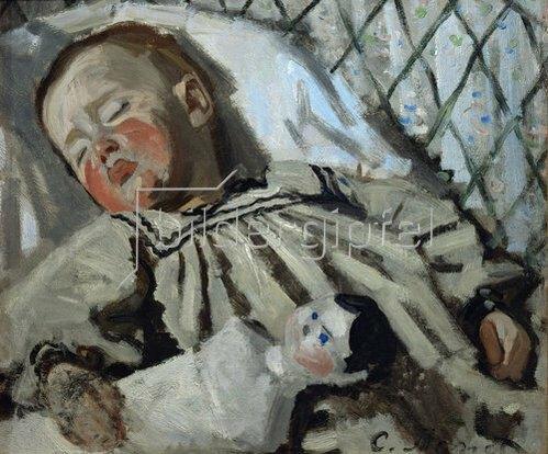 Claude Monet: Der kleine Jean Monet, schlafend. 1858.