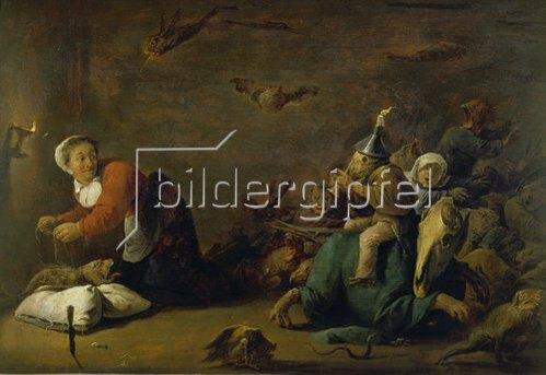 David Teniers: Hexenspuk. Holz, 30 x 45 cm.