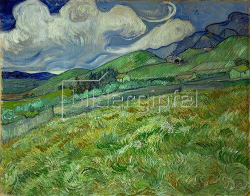 Vincent van Gogh: Berglandschaft hinter dem Hospital Saint-Paul. 1889.