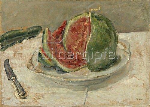 Max Slevogt: Stillleben mit Wassermelone.