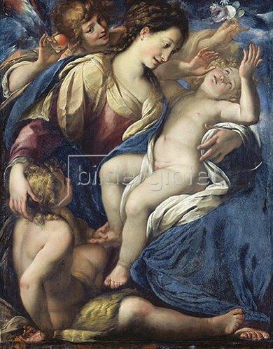 Giulio Cesare Procaccini: Maria mit dem Jesus- und Johannesknaben.