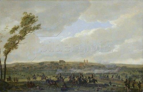 """Wilhelm von Kobell: Das Gefecht bei Wertingen am 8.10.1805 (aus dem """"Berthierzyklus""""). Um 1807"""