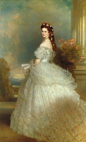 Franz Xaver Winterhalter: Kaiserin Elisabeth von Österreich (Sissi). 1865.