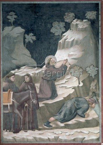 Giotto di Bondone: Das Wunder der Quelle. Um 1298-1300