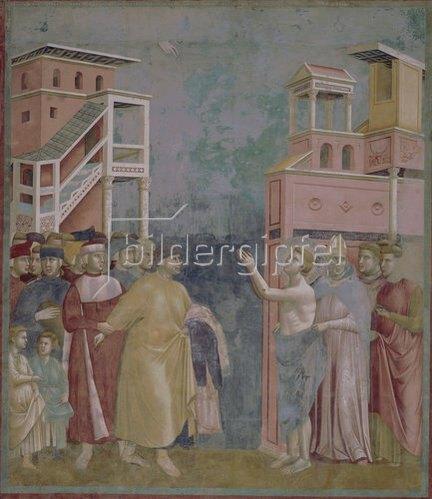 Giotto di Bondone: Der Verzicht auf Eigentum. Um 1298/99