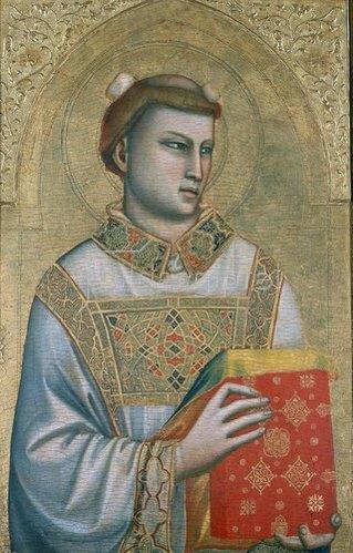Giotto di Bondone: Der heilige Stephanus. Um 1325-30