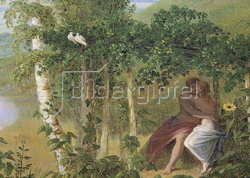 """Caspar David Friedrich: Liebespaar, Detail aus """"Der Sommer"""". 1807"""