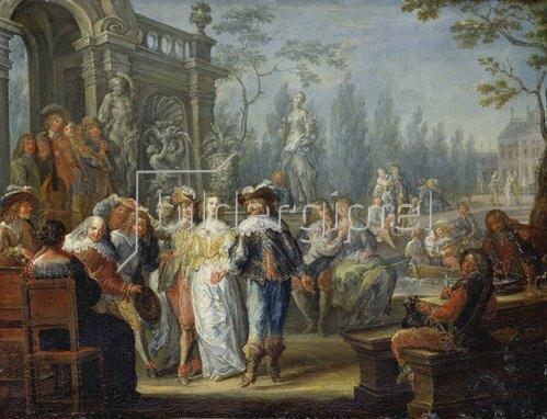 Johann Georg Platzer: Gesellschaftsszene.