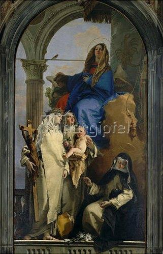 Giovanni Battista Tiepolo: Thronende Madonna mit Heiligen (Katherina v. Siena, Rosa v. Lima, Agnes v. Monte