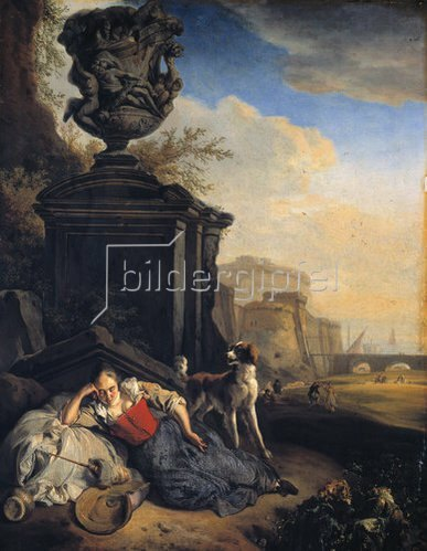 Jan Weenix: Schlafendes Mädchen. 1665