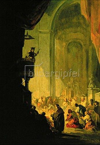 Eugenio Lucas: Inneres einer spanischen Kirche.