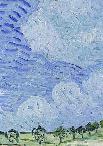 Vincent van Gogh: Die Ebene bei Auvers. (Detail: Himmel). 1890