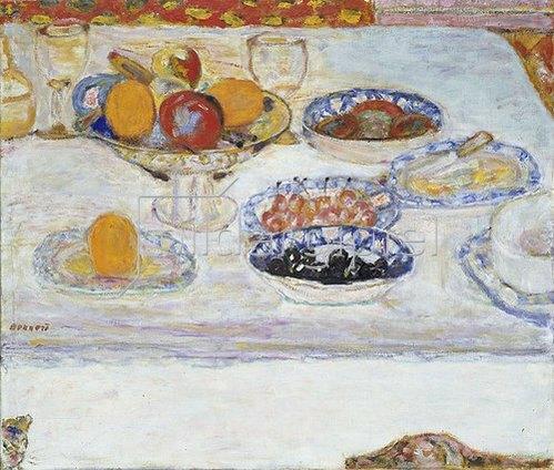Pierre Bonnard: Obstschale und Obstteller.