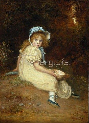 Sir John Everett Millais: Little Miss Muffet. 1884