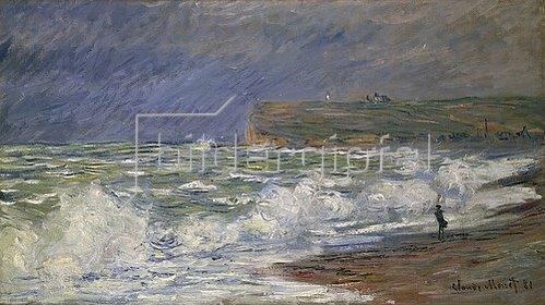 Claude Monet: Brandung bei Fécamp. 1881.