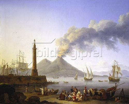 Jacob Philipp Hackert: Der Hafen von Santa Lucia in Neapel. 1771