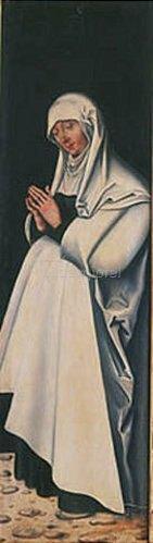 Lucas Cranach d.Ä.: Maria in Anbetung, Rückseite, rechter Seitenflügel