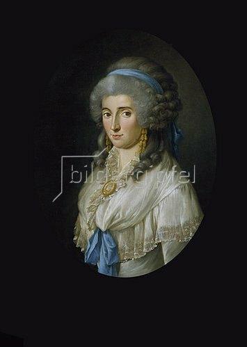 """Georg Melchior Kraus: """"Je suis C"""" (Charlotte von Stein). 1787"""