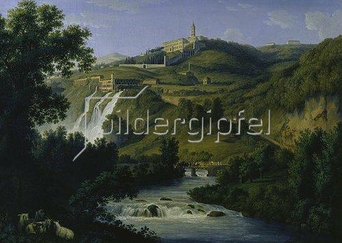 Jacob Philipp Hackert: Villa d´Este bei Tivoli. 1792