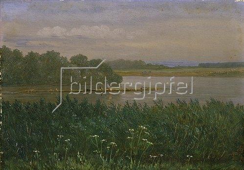 Carl Gustav Carus: Elbinsel bei Pillnitz. Um 1835/40.