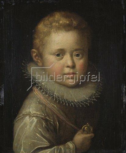 Hans von Aachen: Bildnis eines blonden Knaben.