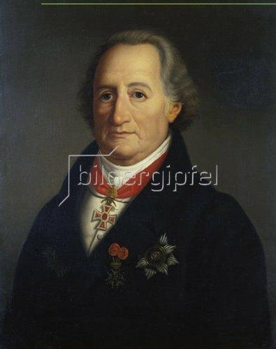 Heinrich Christoph Kolbe: Johann Wolfgang von Goethe. 1822, Replik der Erstfassung.