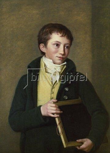 """Georg Friedrich Adolf Schöner: Abraham Ludwig Heinrich Jakob (""""BRAMI"""") von Willemer, 1807"""