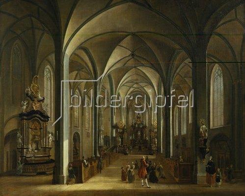 Christian Georg Schütz d.Ä.: Das Innere der Liebfrauenkirche in Frankfurt am Main. 1768