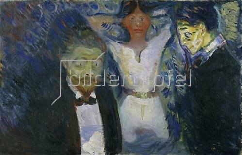 Edvard Munch: Die Eifersucht. Um 1907