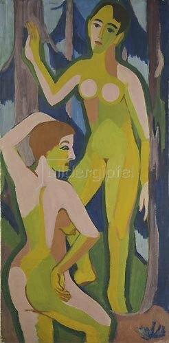 Ernst Ludwig Kirchner: Zwei Akte im Walde. 1926