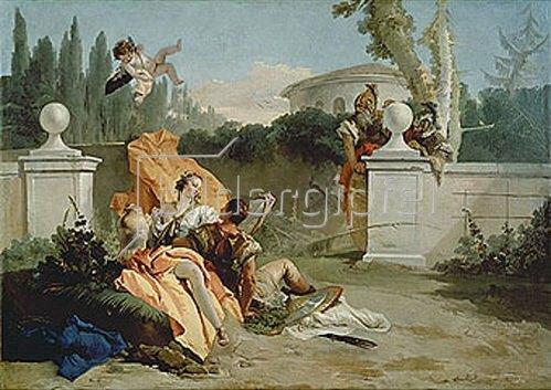 Giovanni Battista Tiepolo: Rinaldo und Armida werden von Ubaldo und Carlo überrascht.