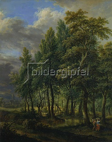 Christian Georg d. J. Schütz: Waldlandschaft: Gegend um den Stralenberger Hof bei Frankfurt am Main. 1780