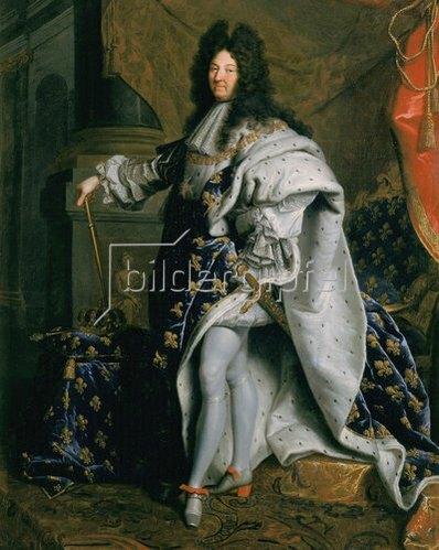 Hyacinthe Rigaud: Bildnis von Ludwig XIV, König von Frankreich -  der Sonnenkönig. Um 1701
