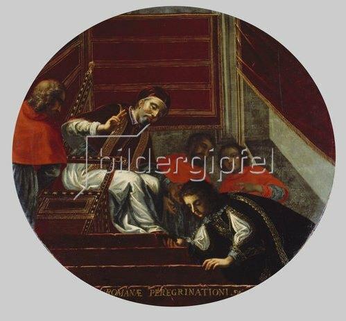 Antonio Triva: Kurfürst Maximilian I. vor Papst Clemens VIII. in Rom