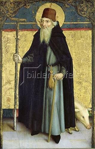Bartholomeus Zeitblom: Heiliger Antonius. Um 1482-1485.