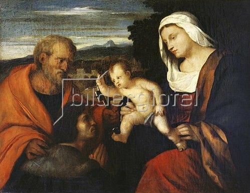 Hans von Marées: Madonna mit dem heiligen Petrus und einem Stifter (nach Palma Vecchio). 1865.