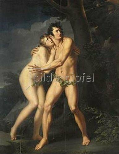 Johann Peter von Langer: Adam und Eva. Vor 1809.