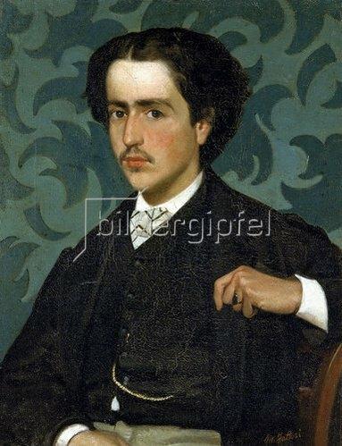 Giovanni Fattori: Bildnis eines jungen Mannes. Um 1865
