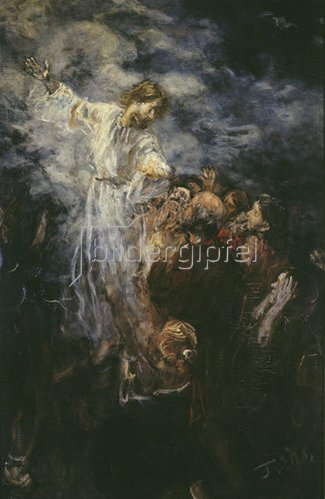 Fritz von Uhde: Himmelfahrt Christi (Skizze). 1897.