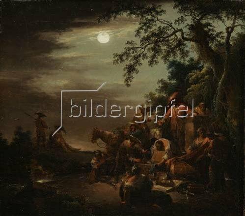 Johann Georg Trautmann: Zigeuner verteilen ihre Beute. Um 1760.