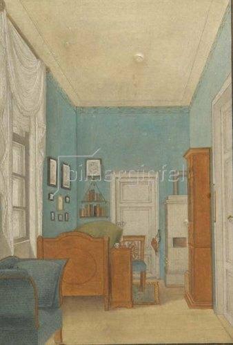 Katharina Sophia geb. Kellner Scharff: Das Krankenzimmer von Anna Rosina Magdalena Scharff. 1841.