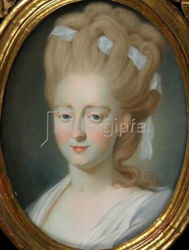 Unbekannter Künstler: Charlotte von Kalb, geb. Marschalk von Ostheim. Um 1780/85.