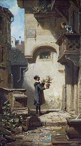 Carl Spitzweg: Der Gratulant. Um 1875.