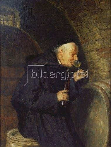Eduard Grützner: Die Weinprobe.